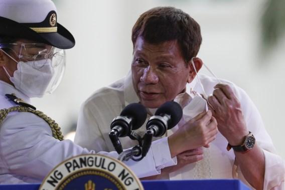 Filipijnse president Duterte: 'Ofwel neem je het vaccin, ofwel ga je de gevangenis in'