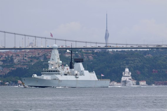 Londen ontkent Russische waarschuwingsschoten tegen Brits marineschip op Zwarte Zee