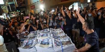 Hongkongers schuiven massaal aan voor laatste editie van iconische krant