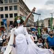 Honderd actievoerders in Brussel voor strafbaar maken ecocide