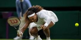 Geblesseerde Serena Williams moet strijd meteen staken op Wimbledon
