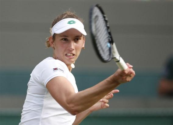 Wimbledon voorbij voor Elise Mertens