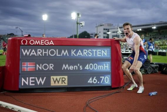Noor Warholm verbetert mythisch wereldrecord 400 meter horden