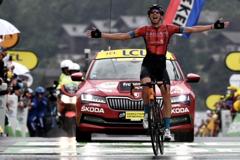 Dylan Teuns wint heroïsche Alpenrit in de Tour