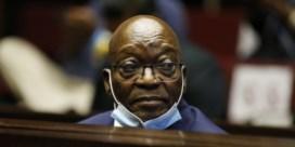 Gevangenisstraf oud-president Zuid-Afrika opgeschort