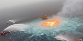 Water 'staat in brand' na breuk pijplijn in Golf van Mexico