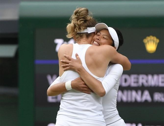 Elise Mertens en Hsieh Su-Wei winnen dubbelspel Wimbledon na spektakelstuk