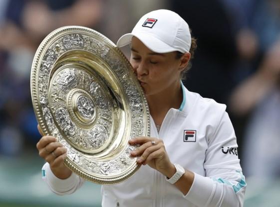 Nummer één Ashleigh Barty eindwinnaar op Wimbledon