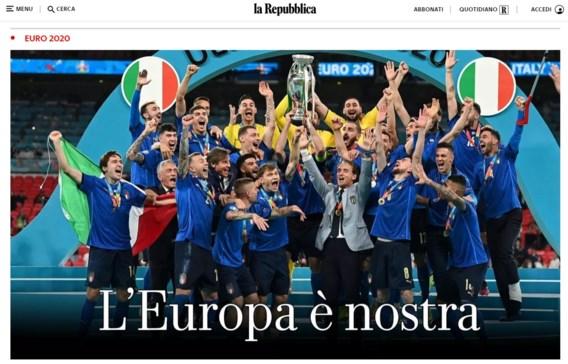Britse en Italiaanse kranten reageren: 'Tranen voor helden' vs. 'Europa is van ons'