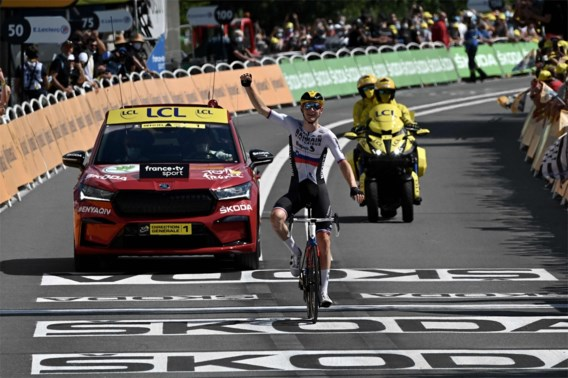 Matej Mohoric pakt tweede ritzege in de Tour
