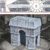 Het Christo-moment: Arc de Triomphe krijgt zilverblauw jasje