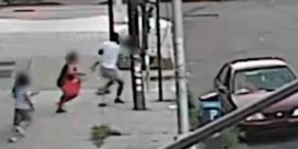 Bewakingscamera filmt hoe moeder 5-jarig zoontje nipt van ontvoering redt