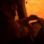 Brandweerlui kunnen net op tijd wegrijden van wild inferno