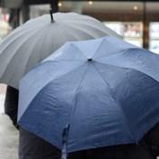 Regen in alle provincies, lokaal hevige onweders