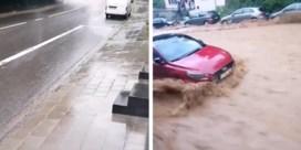 Waanzinnige beelden tonen hoe straat in Dinant in enkele seconden tijd verandert in kolkende rivier: 'Ongelofelijk'