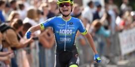 Niels Driesen is Belgisch kampioen wielrennen bij de tweedejaars nieuwelingen