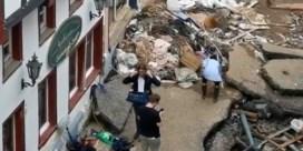 Duitse journaliste geschorst nadat ze zich had ingesmeerd met modder in rampgebied