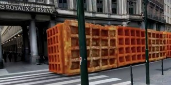 3D-kunstenaar legt uit hoe hij frieten en wafels door Brussel laat rijden