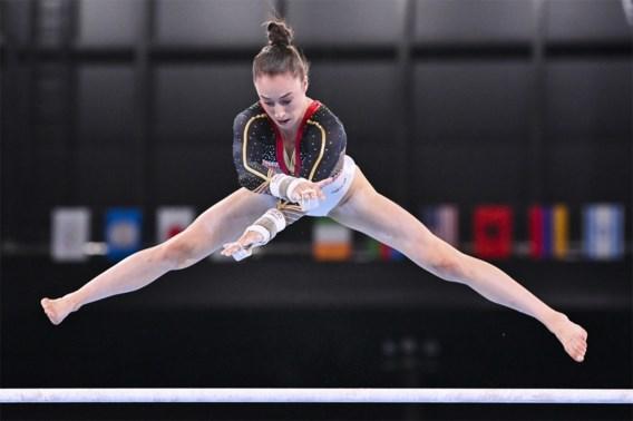 Belgische turnsters eindigen achtste in eerste olympische teamfinale, Nina Derwael haalt monsterscore op brug