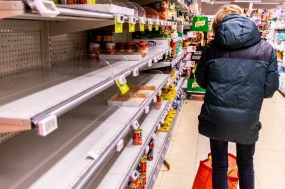 Delhaize-winkeliers zijn lege rekken beu