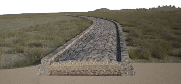 In de lagune van Venetië ligt een Romeinse weg