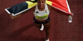Nafi Thiam in tranen na gouden medaille: 'Ik ben mentaal moe, gewoon leeg'