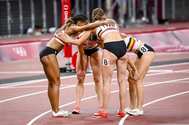 Tempat keempat di Belgian Tornado dalam 4x400 meter terakhir dalam rekor Belgia