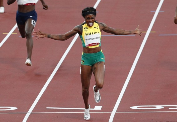Goudenmedaillewinnares Elaine Thompson-Herah loopt 200 meter op Memorial Van Damme