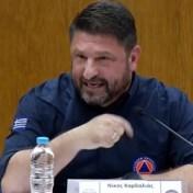 Griekse minister emotioneel wanneer hij aanpak bosbranden verdedigt