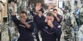 Astronauten in ISS houden eigen buitenaardse Olympische Spelen