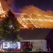 Stallen kasteel van Hamal gaan in vlammen op