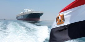 Containterschip Ever Given terug in Suezkanaal