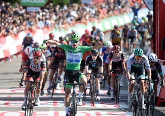 Derde ritzege in Vuelta voor Jakobsen, Eiking blijft leider