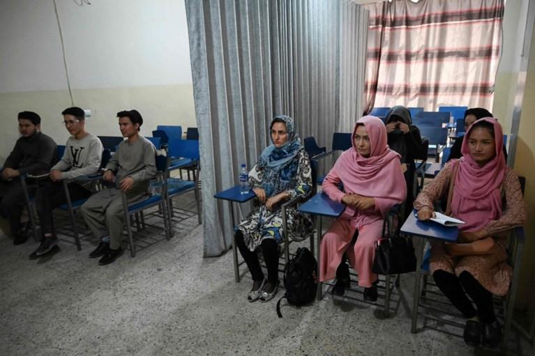 Nieuwe regels aan Afghaanse universiteiten: gordijn scheidt het klaslokaal