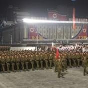 Noord-Korea viert nationale feestdag met nachtelijke militaire parade