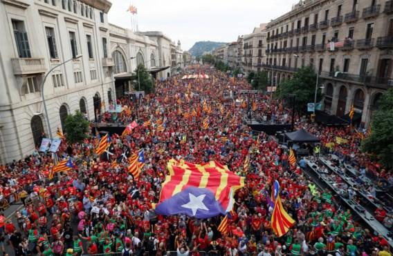 Ruim 100.000 Catalanen eisen onafhankelijkheid aan vooravond onderhandelingen