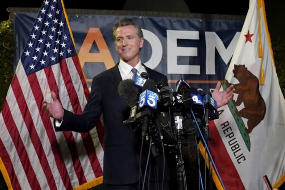 Democraten halen opgelucht adem: Californisch gouverneur Gavin Newsom mag op post blijven