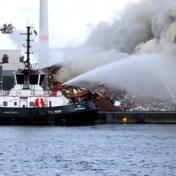 Brand in Antwerpse haven veroorzaakt rookpluim boven stad