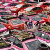 Thai transformeren taxikerkhof in creatieve moestuin