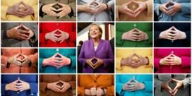 De 'ruit van Merkel': hoe een handgebaar iconisch werd
