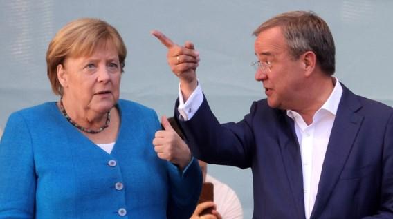 Merkel roep op voor Laschet en 'toekomst van Duitsland' te stemmen