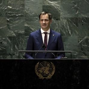 De Croo spreekt VN toe: 'meer samenwerking nodig om covid, klimaatopwarming en terrorisme te bestrijden'