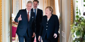 Duitse bondskanselier Merkel geëerd op koninklijk paleis