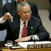 De graag geziene generaal die speechte over de wapens van Saddam