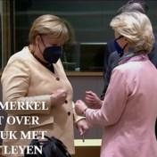 Treurig muziekje en slechte overgangen: Raad zwaait Merkel uit met emotionele video