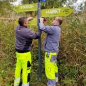 Nieuwe wegwijzers tonen aantal stappen in Oudenaarde