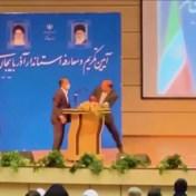 Iraanse kersverse gouverneur krijgt rake tik tijdens overwinningsspeech